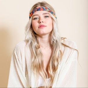 Nothing Says Boho More :Tye Dye Braided Head-Wrap
